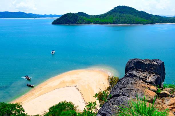 Yao Yai island and Yao Noi island seen from Nok island stock photo