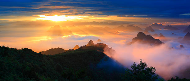 Yaoshan mountain at dawn