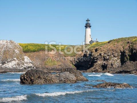 Yaquina Head lighthouse near Newport, on the Central Oregon coast.