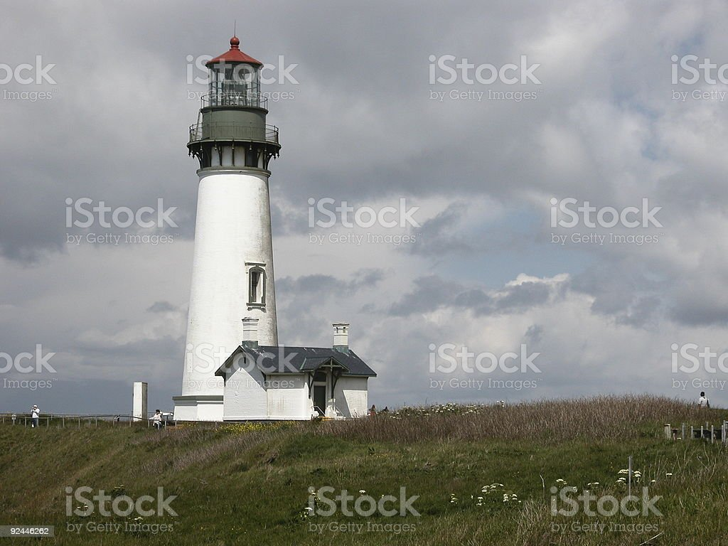 Yaquina Head Lighthouse in Oregon royalty-free stock photo