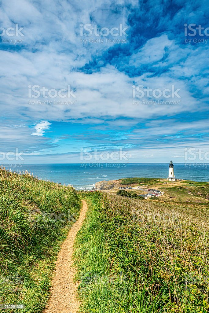 Yaquina Head Lighthouse, Oregon Coast stock photo