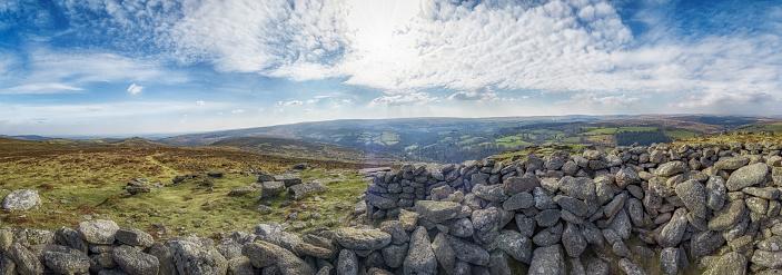 Panorama from Yar Tor Dartmoor, Devon