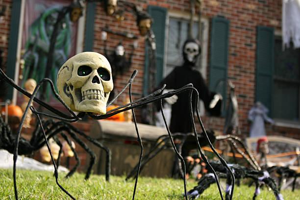 Yard décorée pour Halloween - Photo