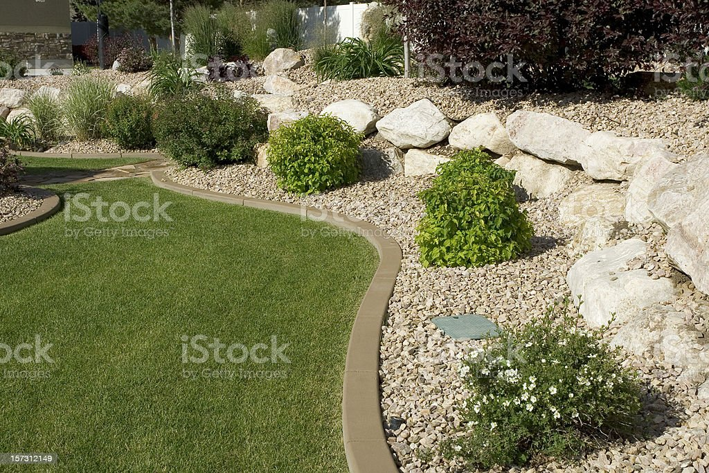Yard Landscape royalty-free stock photo