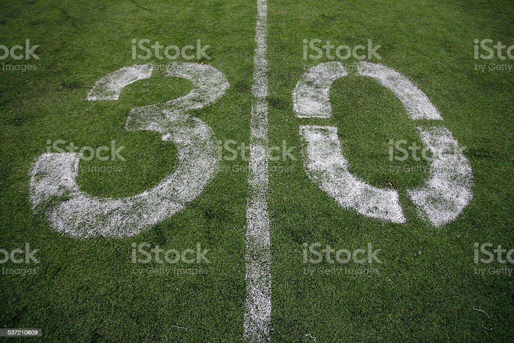 American Football field with Yard Line Beyond
