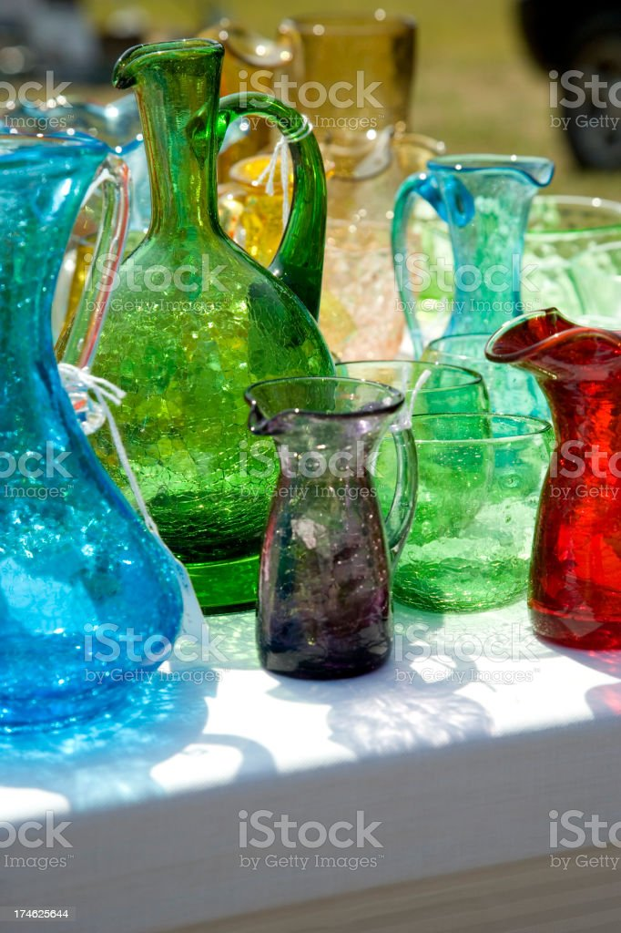 Yard Sale Glass royalty-free stock photo