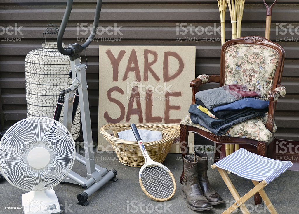 Yard Sale stock photo