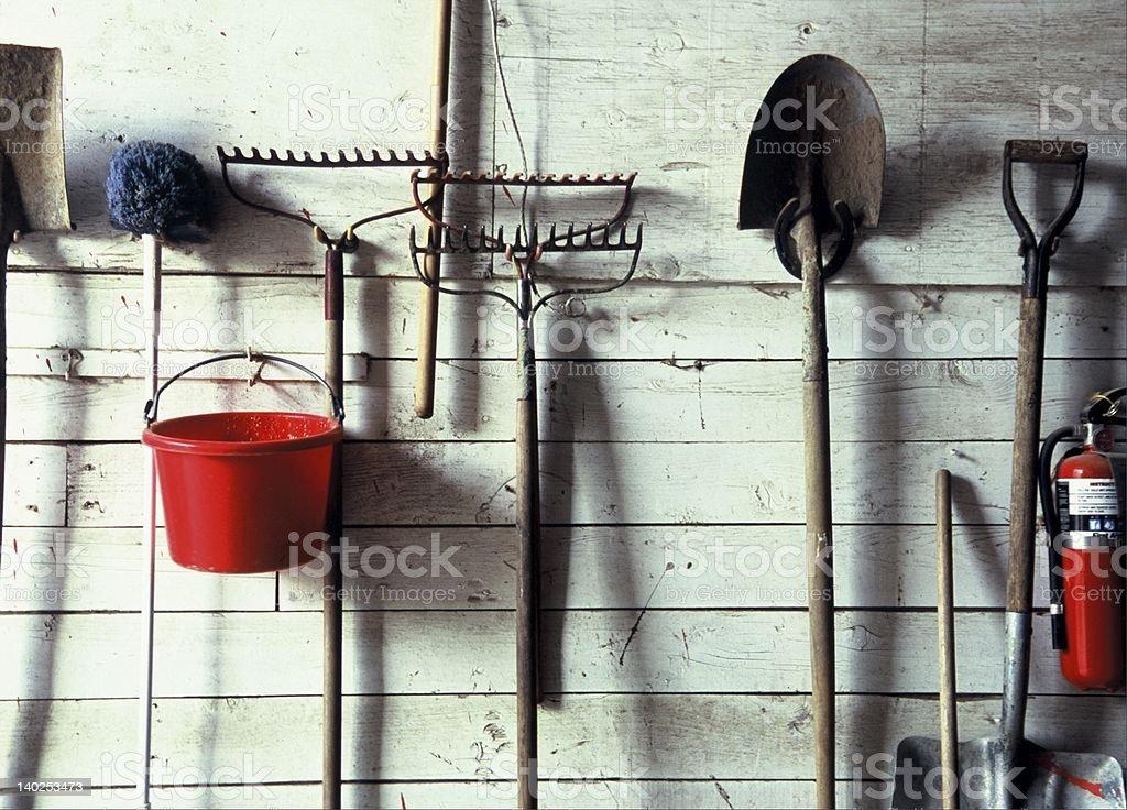 yard tools stock photo