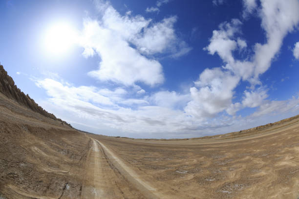 Yardang landform landscape in west of china stock photo