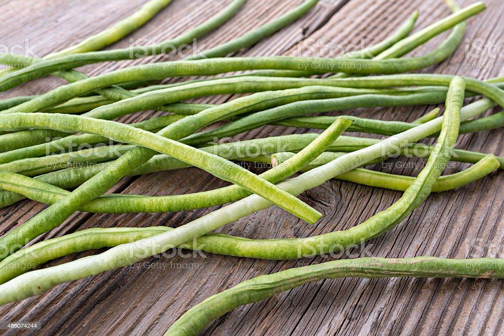 Yardlong Bean, organic long bean stock photo