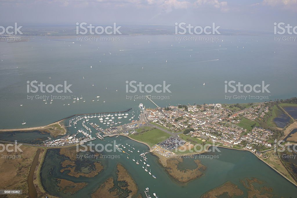 Yarmouth estuary and marina stock photo