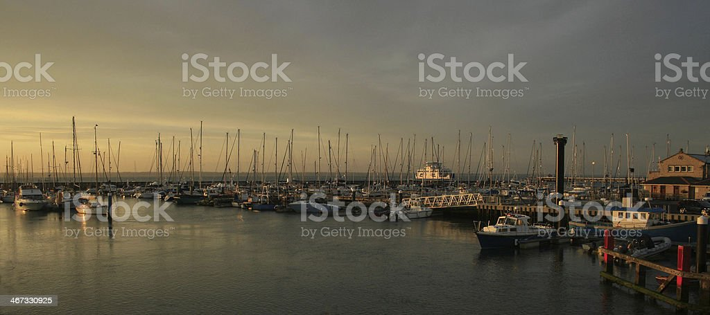 Yarmouth Marina Sunset stock photo