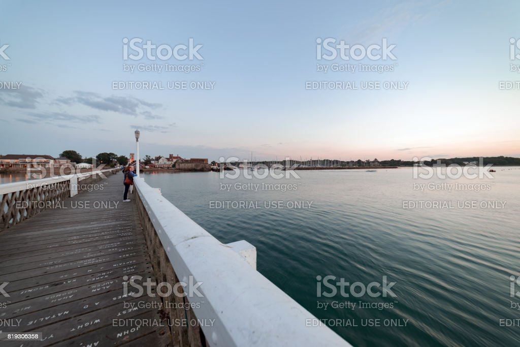 Yarmouth on the Isle of Wight at dusk on a summer's evening stock photo