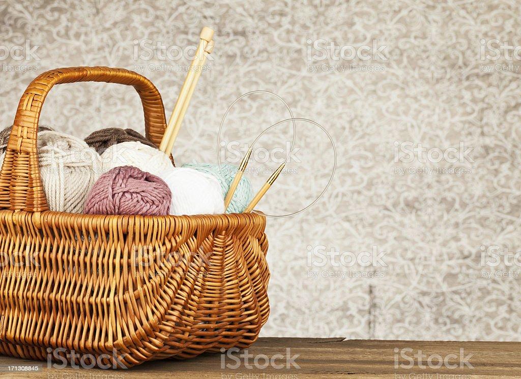 Yarn Basket stock photo