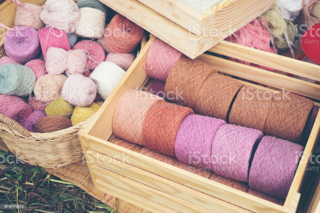 Yarn dyed from natural dyes
