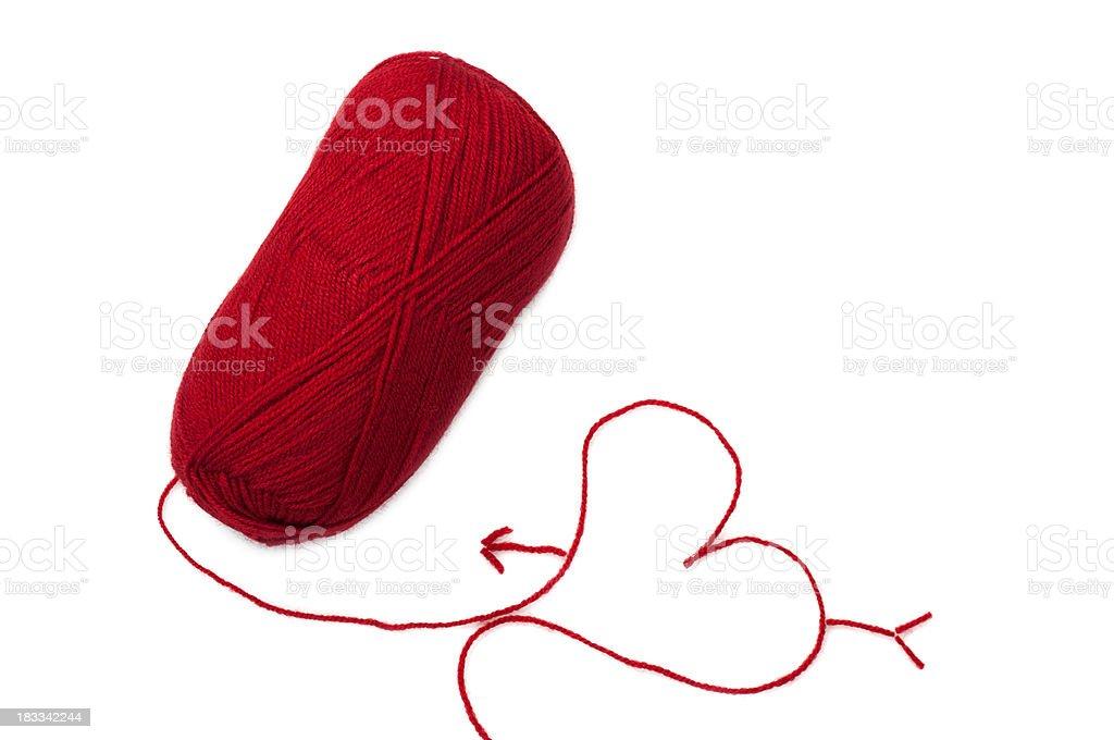 Yarn of Wool in Heart Shape Symbol royalty-free stock photo