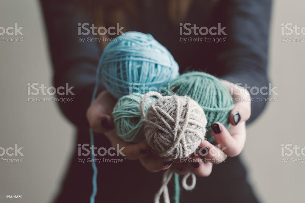 Yarn stock photo