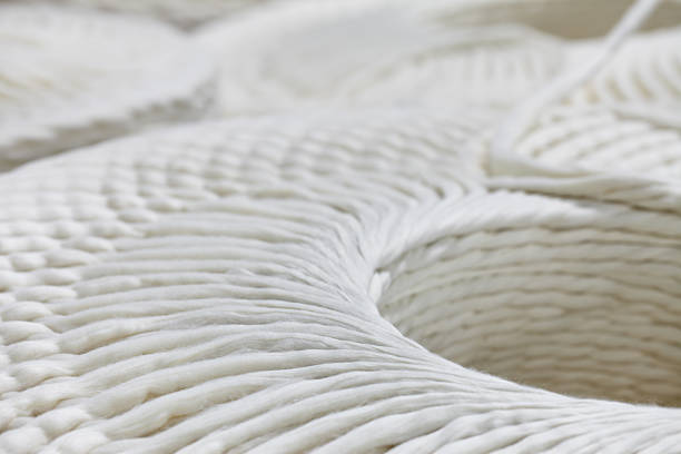yarn spinning machine - pamuk tekstil stok fotoğraflar ve resimler