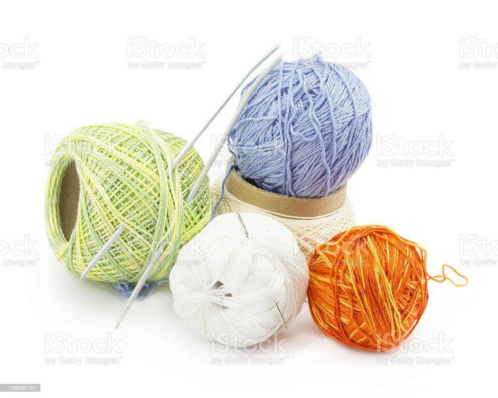 Yarn 대한 뜨개 royalty-free 스톡 사진