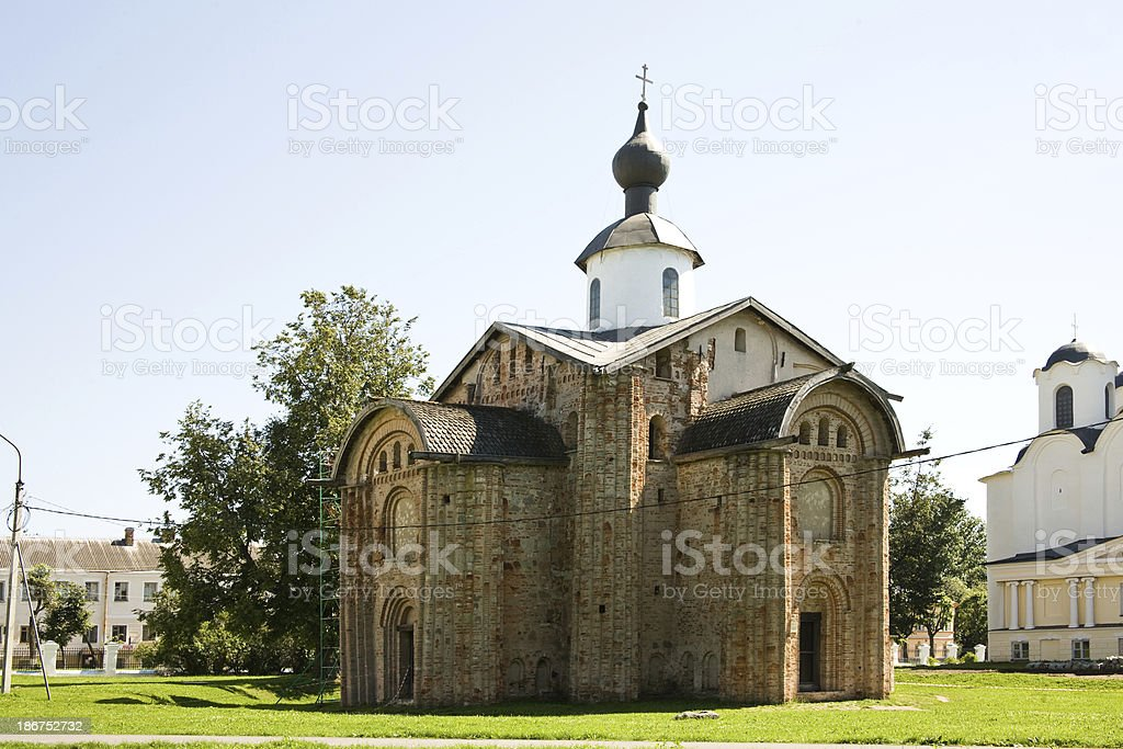 Yaroslavovo Dvorishche. Age-old temples stock photo