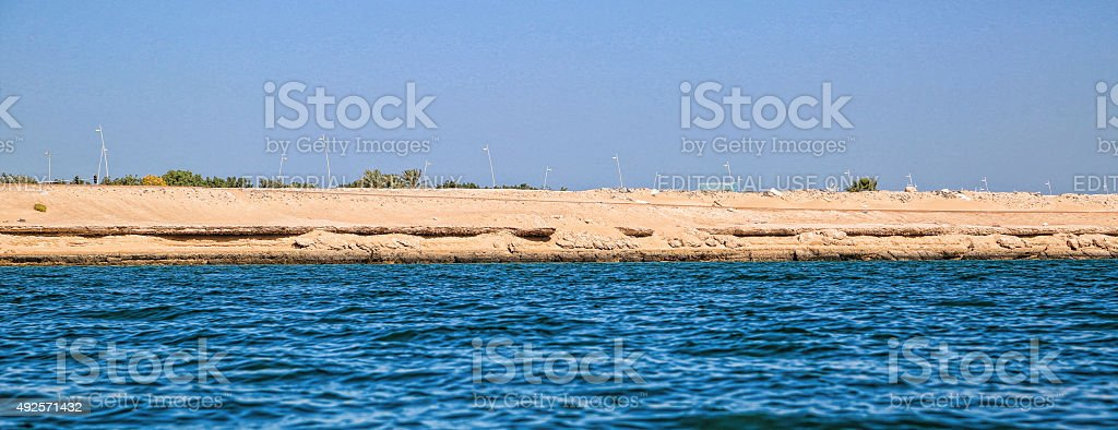 Yas Island and Trail stock photo