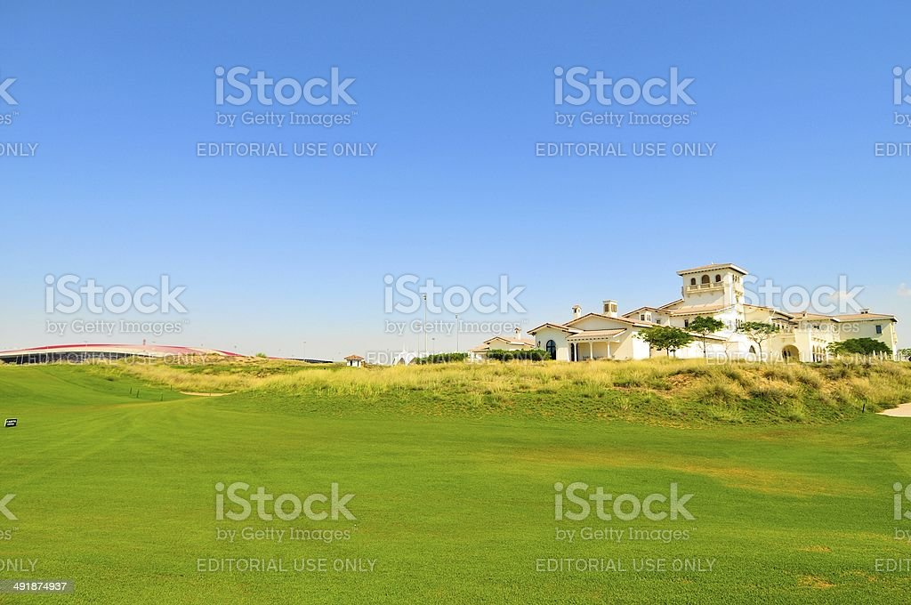 Yas Link Golf Course stock photo
