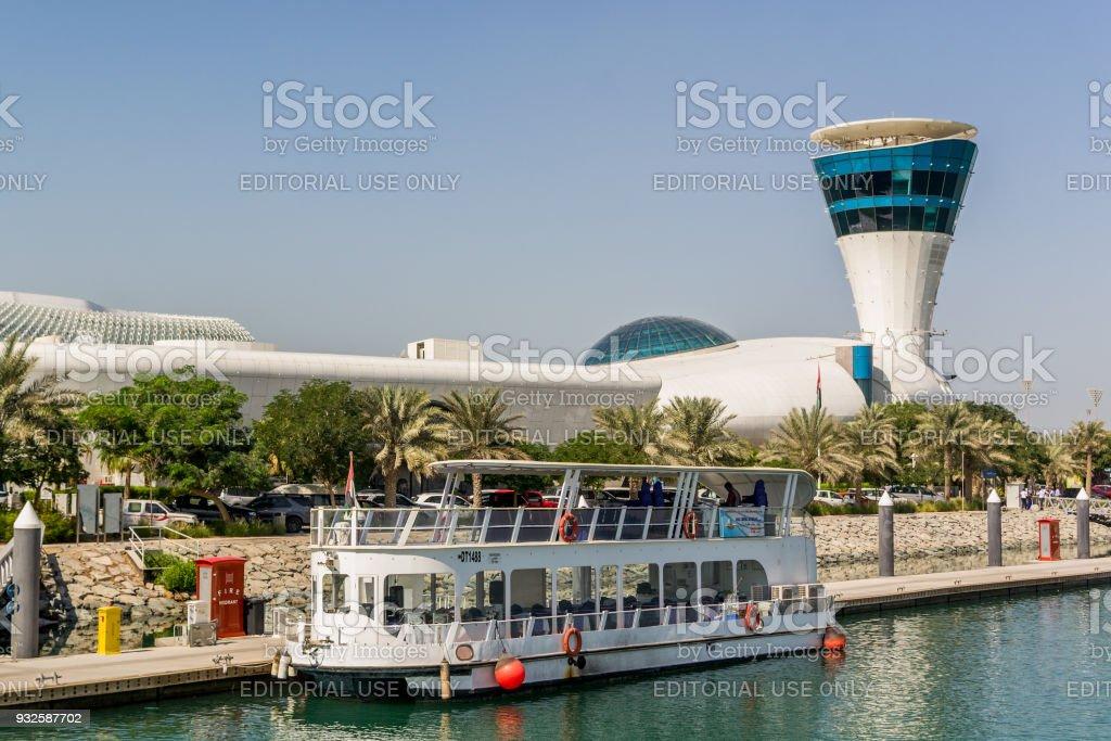 Yas Marina/UAE- 14 Nov 2017: View of Yas Marina in UAE from the sea stock photo