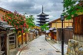 istock Yasaka Pagoda and Sannen Zaka Street in the Morning, 537293752