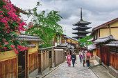 istock Yasaka Pagoda and Sannen Zaka Street 537293964