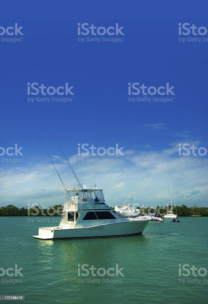 yatch moored stock photo