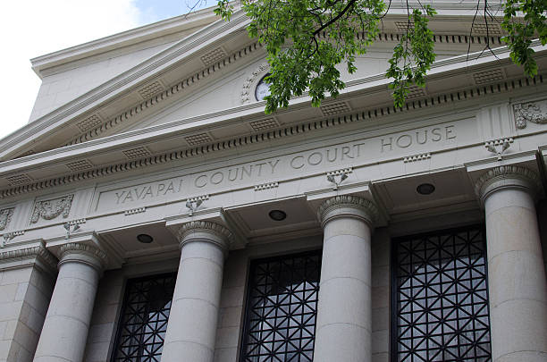 Yavapai County Courthouse stock photo