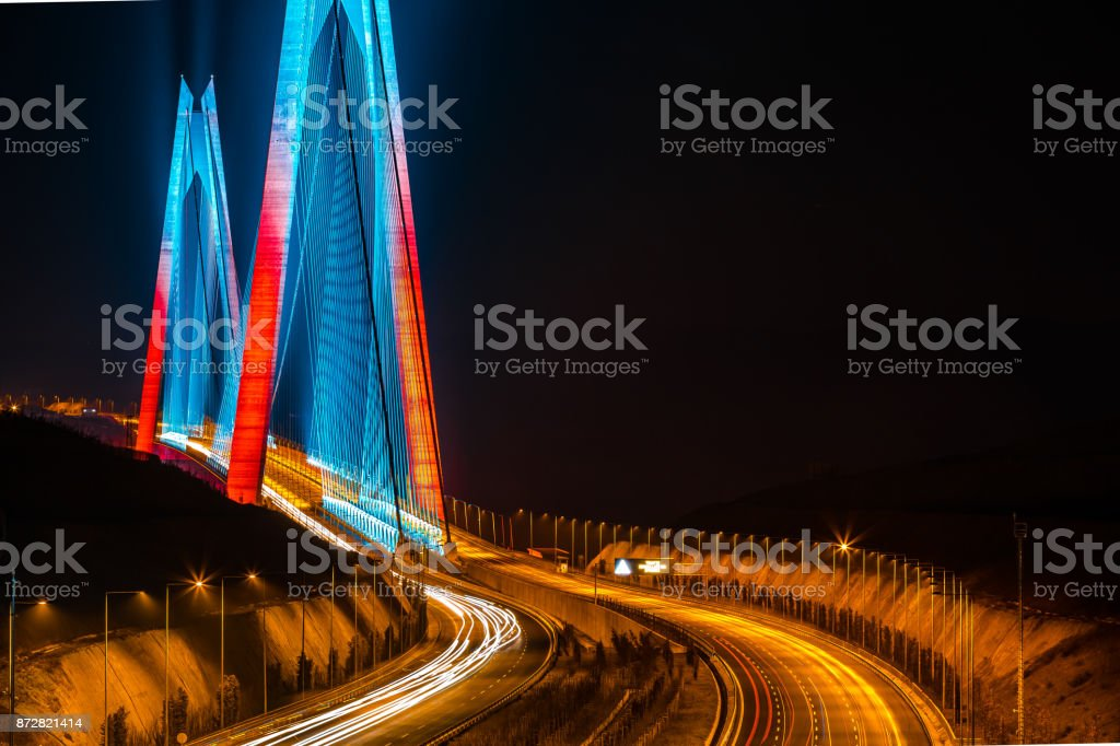 Yavuz Sultan Selim Bridge, Istanbul, Turkey stock photo