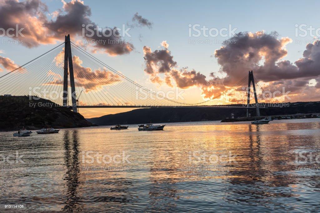 Yavuz Sultan Selim Bridge Istanbul, Turkey. stock photo