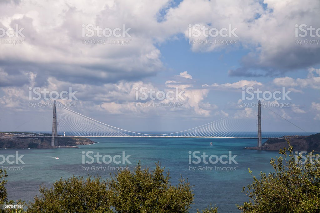 Yavuz Sultan Selim bridge stock photo