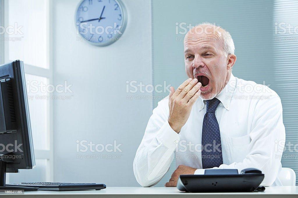 Yawn, I must sleep more! stock photo