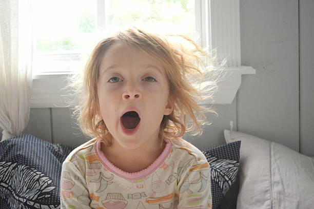 Yawn it out stock photo