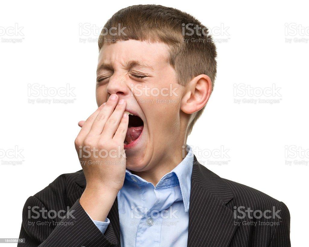 Yawning Boy stock photo