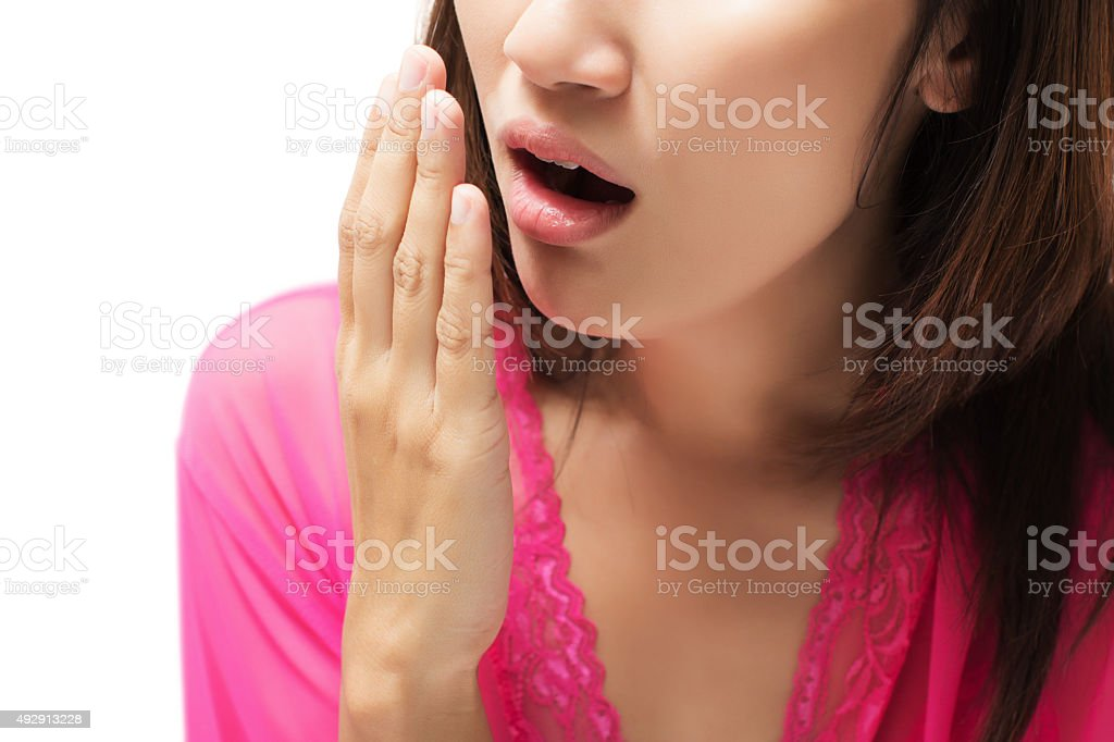 Yawning stock photo