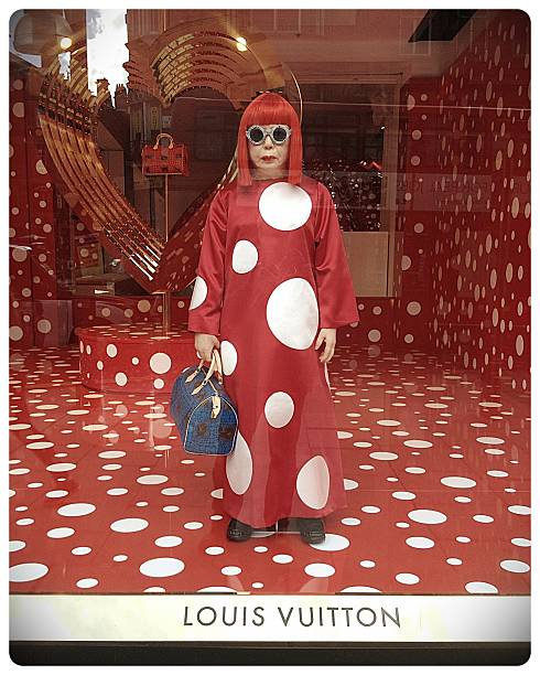 Yayoi Kusama, Louis Vuitton, Selfridges. stock photo