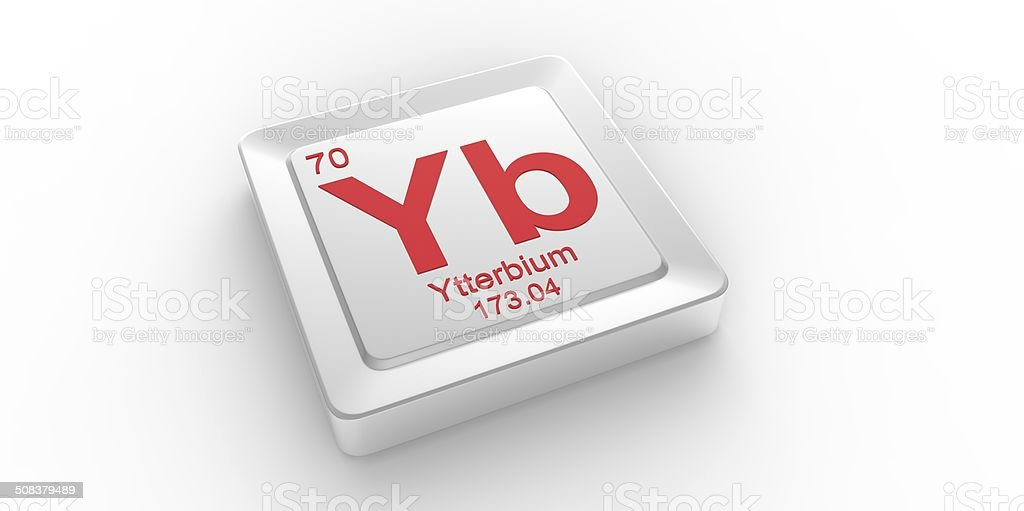 Yb Symbol 70 Material For Ytterbium Chemical Element Stock Photo