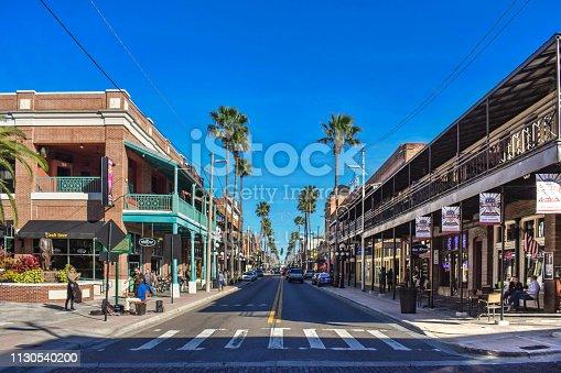 Ybor City Tampa Bay, Florida. January 19 , 2019  People enjoying La Septima (7th Ave) in Old town.