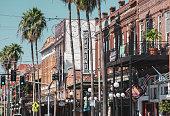Street in Ybor City, Tampa, Florida
