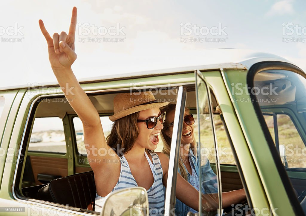 Yeah!! Nothing but freedom! stock photo