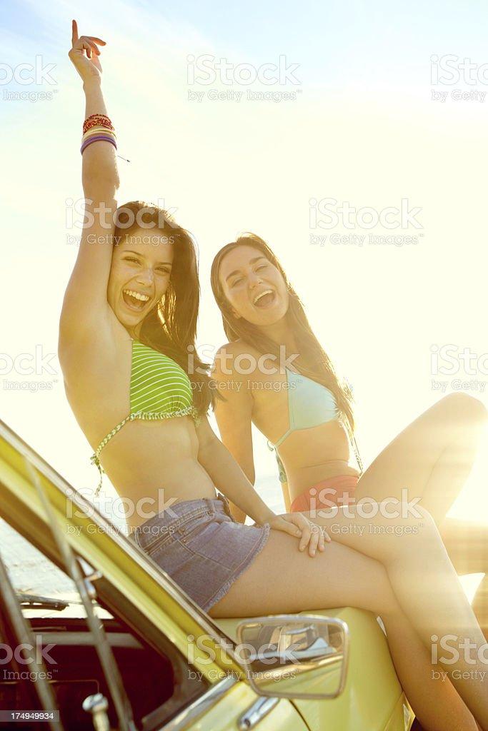Yeah! Summer rocks! royalty-free stock photo
