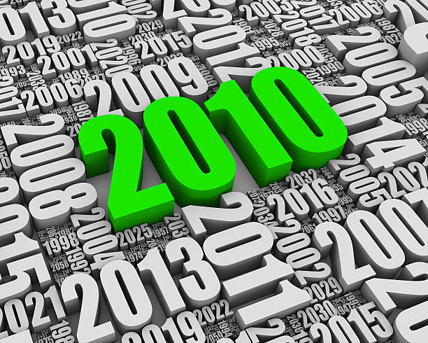 Year 2010 AD Batch of 3D text years. Part of a series. 2012 stock pictures, royalty-free photos & images
