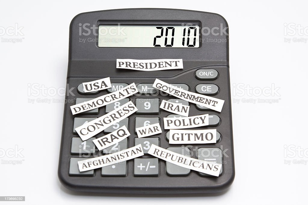 Year 2010 Calculator royalty-free stock photo