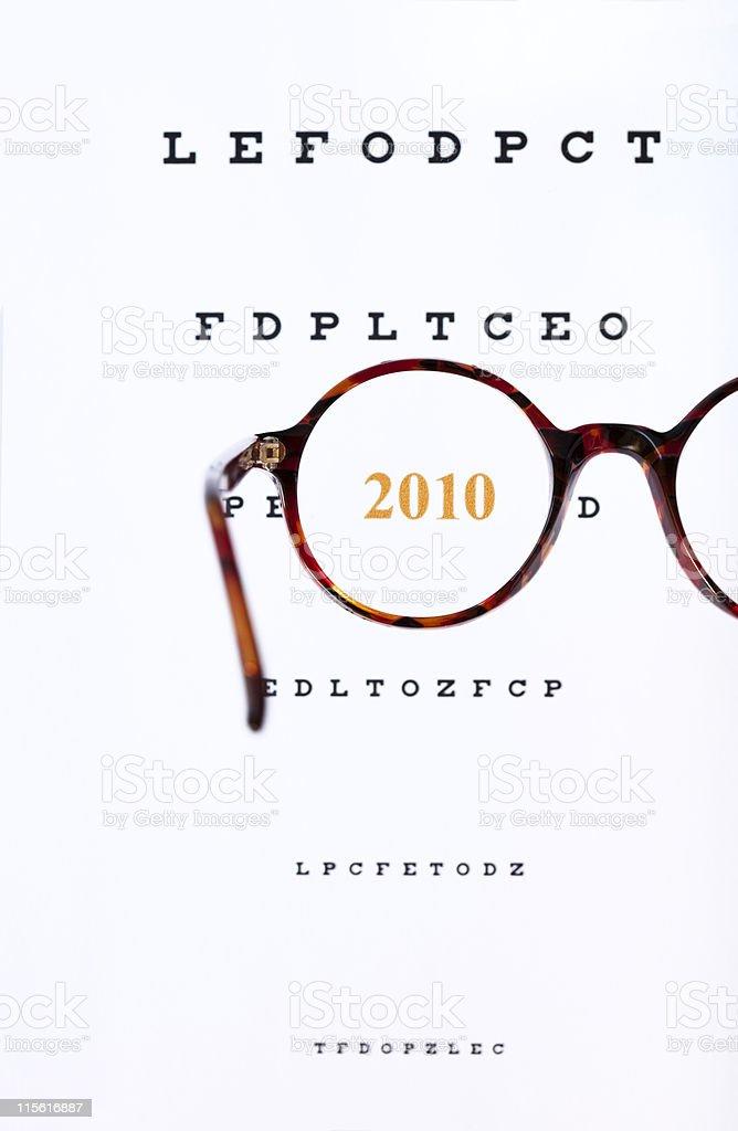 Year 2010 stock photo