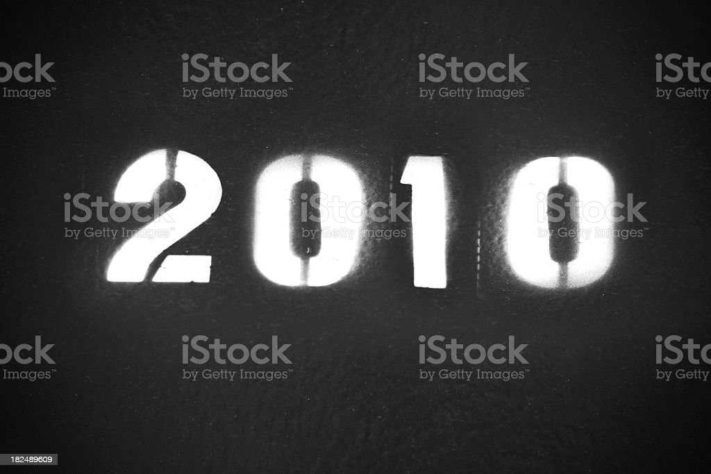 year 2010 royalty-free stock photo