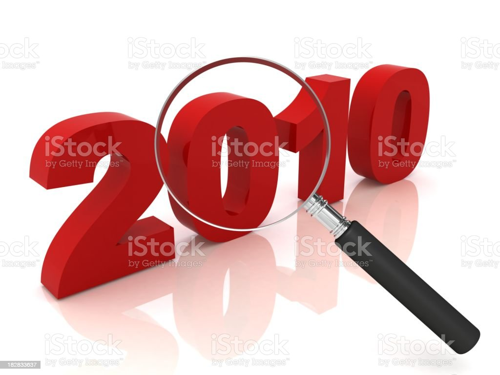Year 2010 Review stock photo