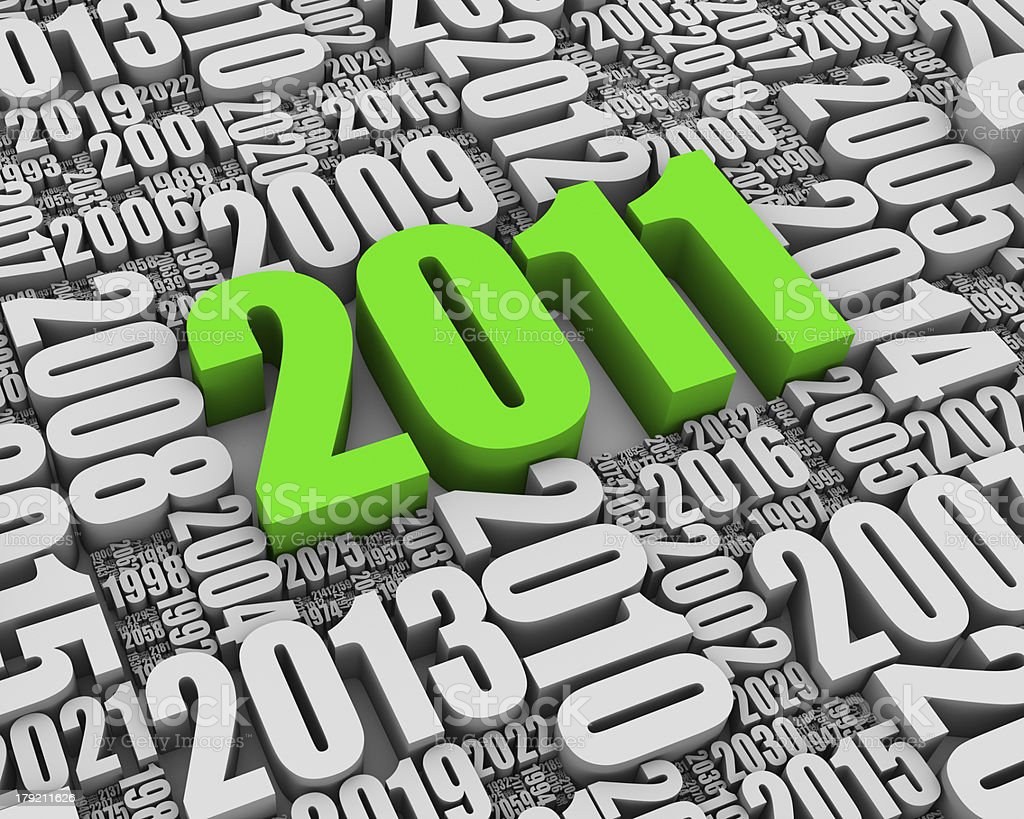 Year 2011 AD stock photo